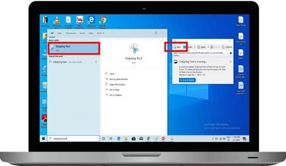 How to take a screenshot with a snipping tool