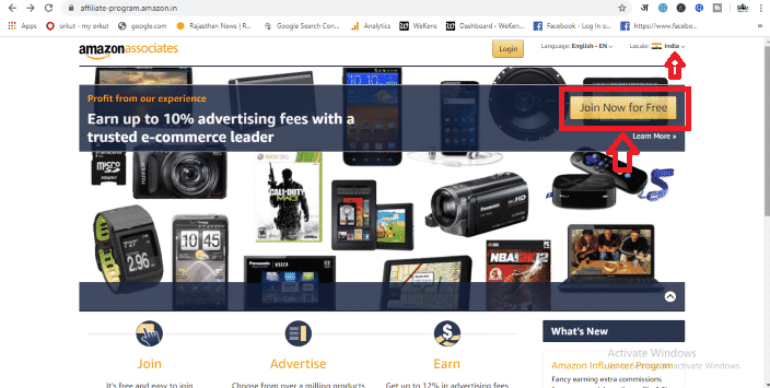 Amazon Affiliate Account - join now free